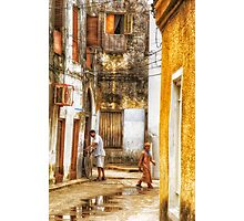 Kids in Stone Town Alley Photographic Print