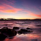 Silhouette rocks - Opossum Bay, Tasmania by clickedbynic