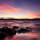 Silhouette rocks - Opossum Bay, Tasmania by clickedbynic