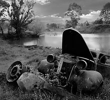 Landscape of Old Car, North East Victoria by Jenny Enever