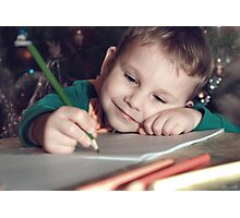 letter to Santa Claus Photographic Print
