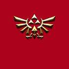 Tri-force zelda on Red by aaronnaps