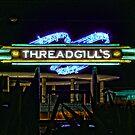Threadgills - Austin, Texas - Night Signs Series  by Jack McCabe