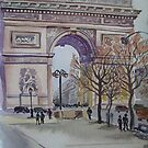 Winter in Paris - Arc de Triomphe by Paulina Kazarinov
