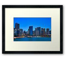Smooth Sailing - Circular Quay - Sydney Harbour - Australia Framed Print