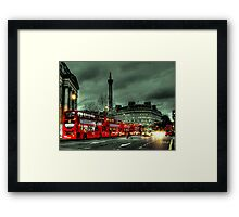 Red buses and Routemaster Framed Print