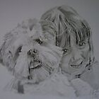 Emily & Holly done in graphite by lee gordon