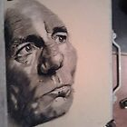 Pete Postlethwaite done with charcoal by lee gordon