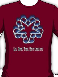 Fiery Chrome Black Veil Brides Star - We Are The Outcasts T-Shirt