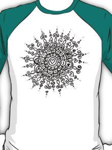 Heart Centred Mandala - black print T-Shirt