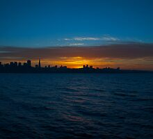 San Francisco Sunset Panorama by Brian Leadingham