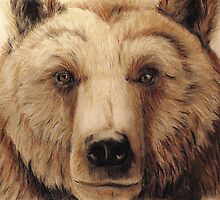 Grizzly bear - tinted charcoal by gogston