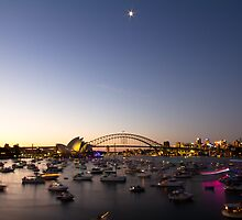 Sunset Over Sydney, NYE 2011 by Steve Munro