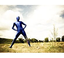 A Day in Blue Zentai lomo 01 Photographic Print