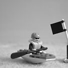 Lego Canoe black and white by africatijn