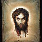 Veronica's Handkerchief (Image of Christ) by Jeff Vorzimmer