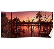 Wetland Sunset Poster
