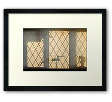 Early morning window Framed Print