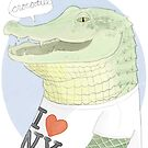 Crocodile by nearsightedowl