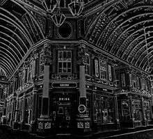Leaden Hall Market  London Black And white by DavidHornchurch