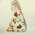 girl in kimono by donnamalone