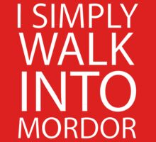 I simply walk into Mordor (no eye) Kids Clothes