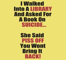 Hilarious Book On Suicide Joke! by xApocalypsia
