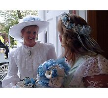 Bride and Matron of Honor Photographic Print