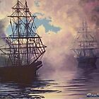 Galleons in the Mist by Dan Wilcox