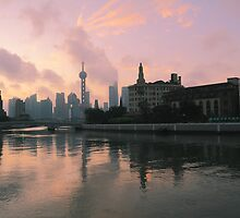 Shanghai Dawn skyline by ArtPhotographer