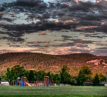 park and hills after the storm by BigAndRed
