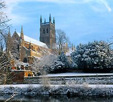 Snow covered Cathedral by Royster52