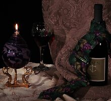 Red Wine with necktie by FrankSchmidt