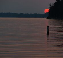 Sunset on Indian Lake by hubcap