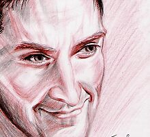 Richard Armitage, red chalk portrait by jos2507