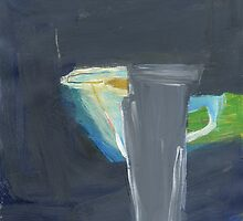 grey vase and blue jug by Shylie Edwards