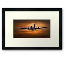 B17 Battle Scarred but Heading Home Framed Print