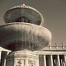 Fountain in St. Peter's Square by Ashli Amabile
