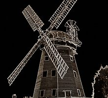 Upminster windmill Digital artwork Sepia Toned by DavidHornchurch