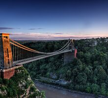 Clifton Suspension Bridge Glow by Tim Pursall