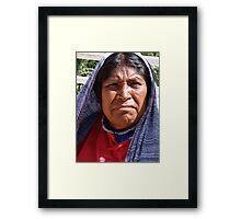 Indian Lady - Señora Indigena Framed Print