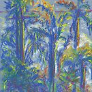 Neighboring Palms (pastel) by Niki Hilsabeck