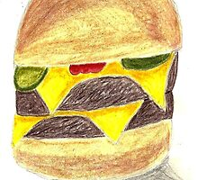STILL-LIFE Drawing of CheeseBurger by StuartBoyd