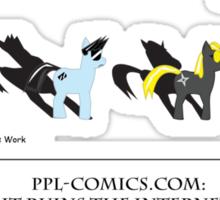 PPL Comics Ruins the Internet Sticker