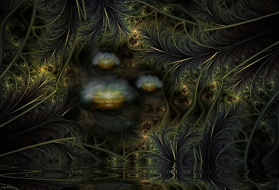 Wisdom in the Night Garden by Craig Hitchens - Spiritual Digital Art