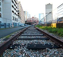 Gastown Train Tracks by jadennyberg