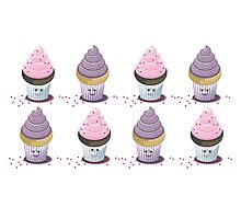 eight cupcakes Photographic Print