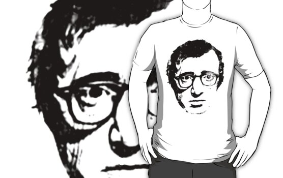 woody allen t-shirt by parko