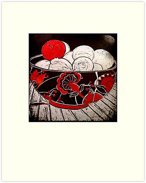 "Red Apple  by Belinda ""BillyLee"" NYE (Printmaker)"