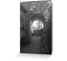 Kiss me under the archway Greeting Card